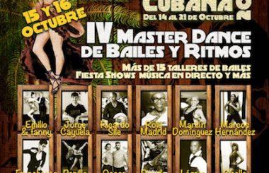 Vuelve la MASTER DANCE 2016, con más sabor Cubano, más profesores y estilos.