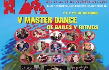 Más talleres y música tendrá, la V Master Dance de Bailes y Ritmos, los días 21 y 22 de Octubre 2017.
