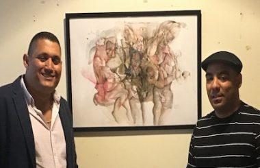 Felipe Alarcón Echenique dona uno de sus cuadros a la Asoc. Cultural Amigos de Cuba de Albacete.