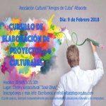 Para el 9 de febrero nuestro colectivo organiza un Cursillo de proyectos culturales.