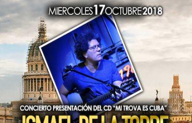 """El Cantautor cubano Ismael de la Torre presentará su CD """"Mi Trova es Cuba"""" en Albacete."""