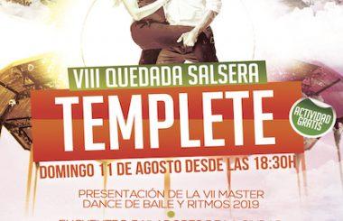 La VIII Quedada Salsera en el Templete del Paseo de la Cuba será el domingo 11 de Agosto 2019.