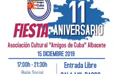 Programa nuestra Asociación Cultural, varias actividades para festejar su 11º Aniversario de creación.
