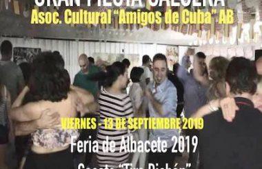 El 13 de Septiembre será la Gran Fiesta Salsera que en la Feria de Albacete 2019 organiza nuestra Asociación.